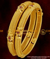 BNG002 - 2.4 Size Latest Chidambaram AD Sparkling White and Red Stone Floral Design Imitation Bangle Buy Online
