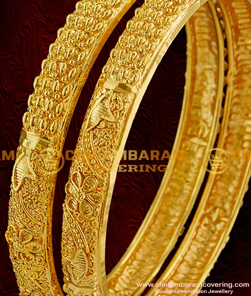 BNG003 - 2.6 Size Unique Handmade Chidambaram Guarantee Imitation Bangles at Lowest Price