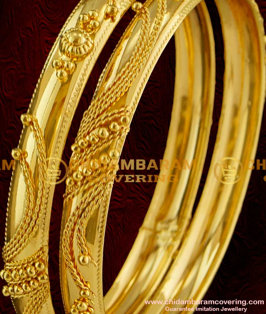 BNG019 - 2.8 Size Gold Bangle Type Design South Indian Guarantee Jewelry Collections Online