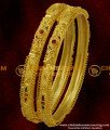 BNG026 - 2.8 Size Broad Stone Fitted Matte Finish Gold Bangle Latest Fashion Bangle Collections Online