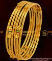 BNG048 - 2.6 Size Gold Plated Kambi Bangles Enamel Design Set for Women Online