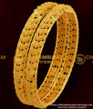 BNG049 - 2.4 Size Grand Look Double Side Leaf Design High Quality Bangles Gold Plated Jewellery Online