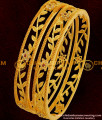 BNG051 - 2.8 Size Elegant Stylish Floral Stone Party Wear Bangles Exclusive One Gram Gold Plated Jewellery Online