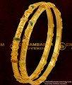 BNG065 - 2.6 Size Elegant Enamel Design Gold Plated Bangles 2 Pieces Buy Online