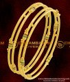 BNG070 - 2.6 Size South Indian Kambi Bangles Enamel Design Gold Plated Bangles
