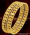 BNG076 - 2.4 Size Latest Bangles Design Light Weight Gold Plated Bangles Online