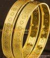 BNG083 - 2.8 Designer Gold Plated Flower Pattern Bangle Buy Online