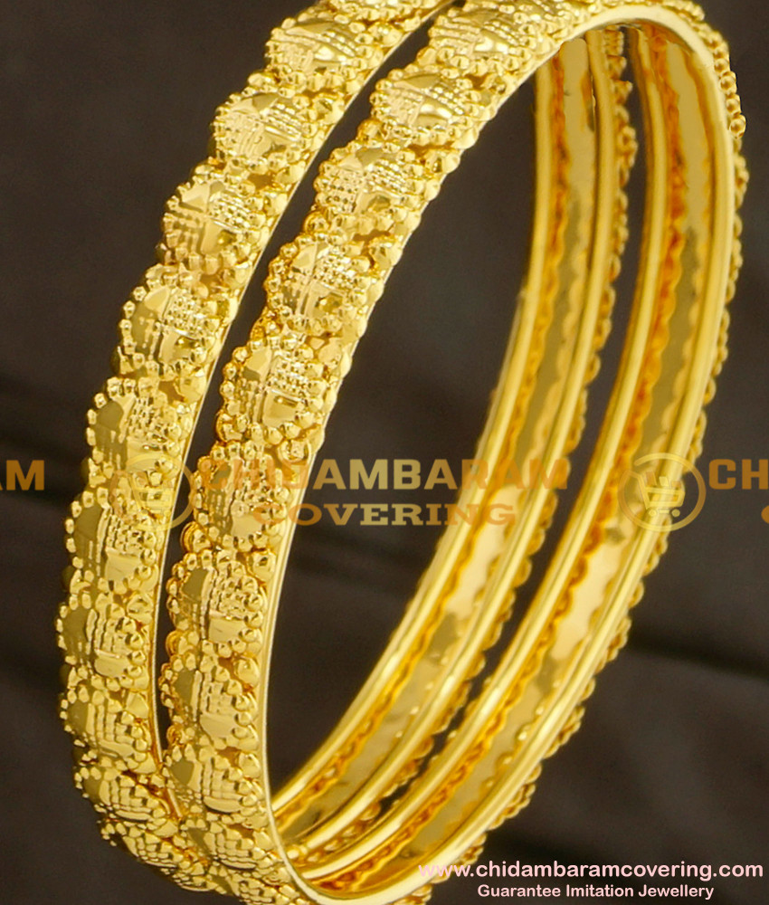 BNG085 - 2.8 Daily Wear Gold Plated Bangles Designs at Affordable Price Buy Online