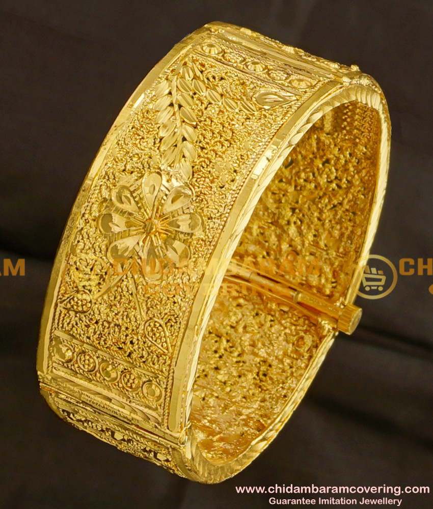 BNG087 - 2.6 Size Latest Kada Bangle Designs 1 Gram Guarantee Bangles Online