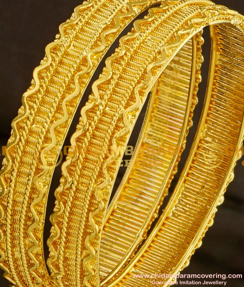 BNG090 - 2.4 Size South Indian Traditional Broad Guarantee Bangles