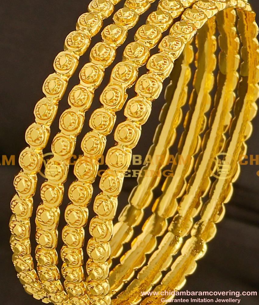 BNG096 - 2.8 Size Classic Design Hot Sale Bangles 4 Pcs Set Daily Wear Collection Online