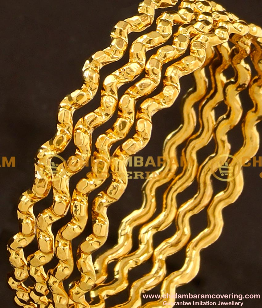 BNG106 - 2.4 Size Traditional Neli Muthu Valaiyal (Zig Zag Bangles) Design Guarantee Bangles Online