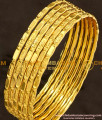 BNG108 - 2.4 Size Traditional Lakshmi Bangles Design Set Of 6 Pcs for Daily Use