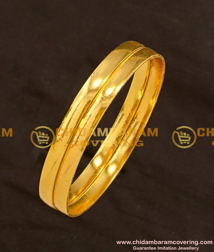 BNG115 - 2.6 Daily Wear Simple Plain Bangles Imitation Jewellery Buy Online