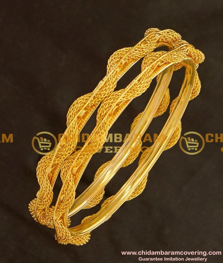 BNG125 - 2.8 Beautiful New Pattern Twisted Bangle Design Online