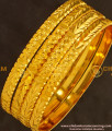 BNG131 - 2.6 Size New Model Golden Colour 4 Pieces Non Guarantee Bangles Set Online