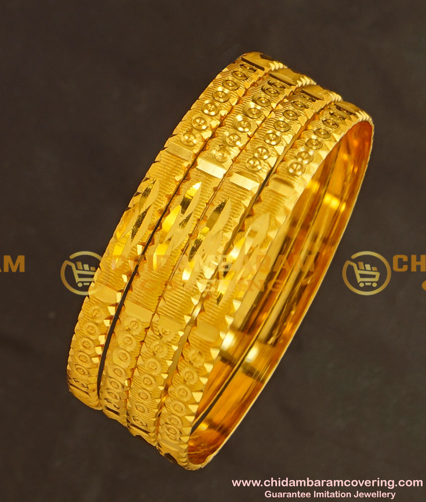 BNG132 - 2.8 Size Light Weight Non Guarantee Bangle Set Of 4 Pieces Buy Online