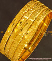 BNG132 - 2.6 Size Light Weight Non Guarantee Bangle Set Of 4 Pieces Buy Online