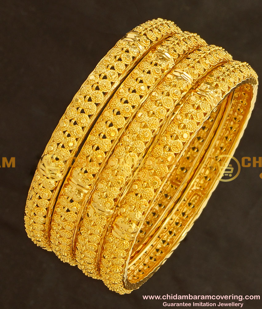 BNG135 - 2.6 Size Beautiful Indian Bridal Bangles Collection Set Of 4 Pieces Buy Online