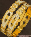 BNG147 - 2.8 Size Latest Design Gold Platinum Plated Bangle for Girls and Women