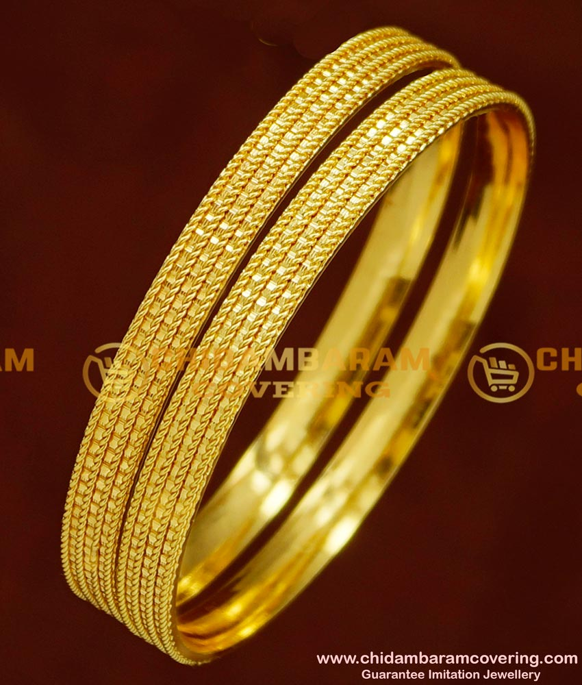 BNG149 - 2.8 Daily Wear Gold Plated Bangles Imitation Jewellery Buy Online