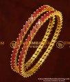 BNG158 - 2.8 Size Latest Designer Full Ruby Stone Bangle 1 Gram Gold Bangles Online