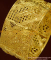 BNG167 - 2.6 Size New Design Pure Gold Plated Bridal Wear Broad Single Piece Screw Open Kada Guarantee Bangle Online