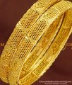BNG170 - 2.8 Size New Pattern Gold Look Bangles Design Gold Plated Jewellery Online