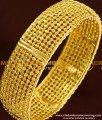 BNG175 - 2.4 Size Gold Look Designer Single Broad Bangle Design for Ladies