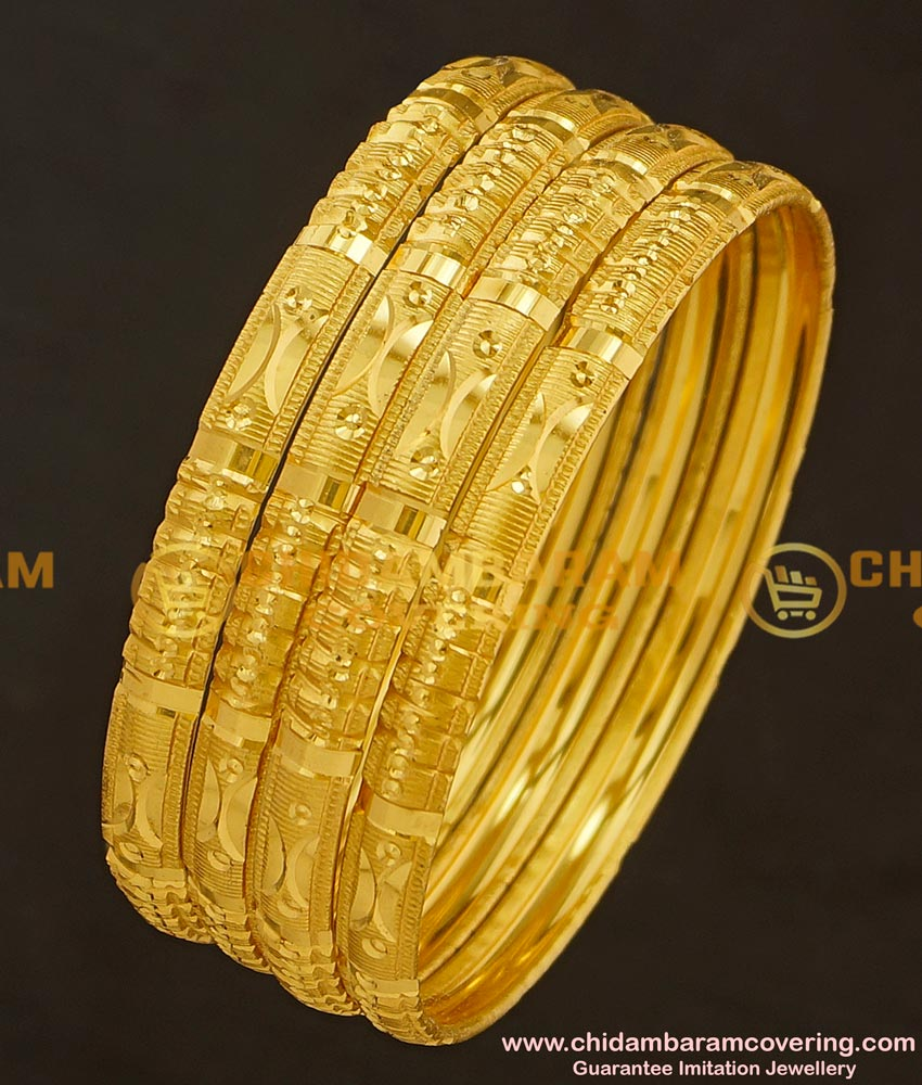 BNG180 - 2.10 Size Bridal Wear Light Weight Non Guarantee Set Of 4 Pieces Designer Bangle Online