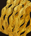 BNG190 - 2.10 Size 4 Pieces Light Weight Gold Bangles Designs Non Guarantee Bangle Low Price Buy Online