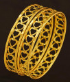 BNG205 - 2.4 Size Modern Light Weight Gold Bangles Designs Latest Heart Shape Bangles for Girls