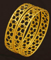 BNG207 - 2.8 Size New Arrival Light Weight Star Design One Gram Gold Bangles Buy Online