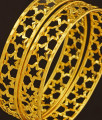 BNG207 - 2.4 Size New Arrival Light Weight Star Design One Gram Gold Bangles Buy Online