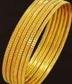 Bng208 - 2.6 Size 6 Pieces Latest Daily Wear Gold Design Thin Bangles Indian Artificial Bangles Set Online