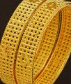 BNG210 - 2.6 Size New Style Gold Plated Bridal Wear Designer Broad Bangles Set Online