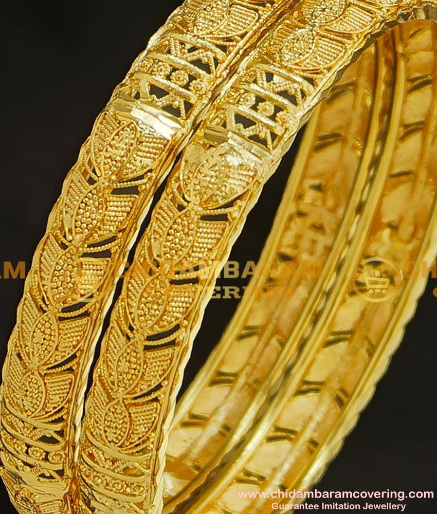 BNG212 - 2.8 Size Light Weight Designer Bombay Bangle Design One Gram Jewellery