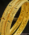 BNG216 - 2.4 Size Wedding Bangle Gold Design Enamel Coating Bangles Imitation Jewelry