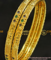 BNG217 - 2.8 Size Simple Light Gold Covering Enamel Finish Thin Daily Wear Bangles