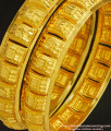 BNG224 - 2.6 Size Grand Look Broad Bangle Design Dye Gold Bangles for Wedding
