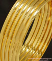 BNG238 - 2.4 Size Gold Plated Shiny Smooth Plain Gold Bangles Design for Daily Use Set Of 6 Pcs Imitation Bangles