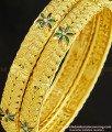 BNG252 - 2.4 Size Gold Design Enamel Coating Flower Model Bangles Imitation Jewelry