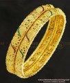 BNG253 - 2.8 Size Latest Bangle Design Enamel Finish Gold Plated Bangles Buy Online