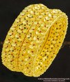 BNG264-2.6 Size Most Beautiful Floral Design Forming Ruby Stone Gold Inspired Wedding Bangles