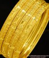 BNG277 - 2.10 Size Daily Use Gold Bangles Design Set Of 4 Pieces Bangle for Women