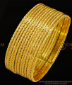 BNG298 - 2.10 Size Stunning Gold Fancy Designer 12 Pieces Thin Bangles for Women and Girls