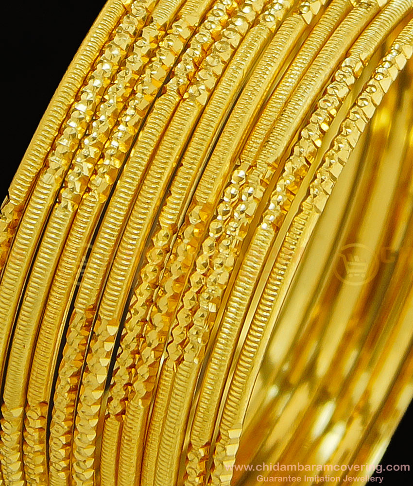 BNG299 - 2.10 Size Indian Wedding Bangles Collection 12 Pieces Thin Bangles Imitation Jewellery