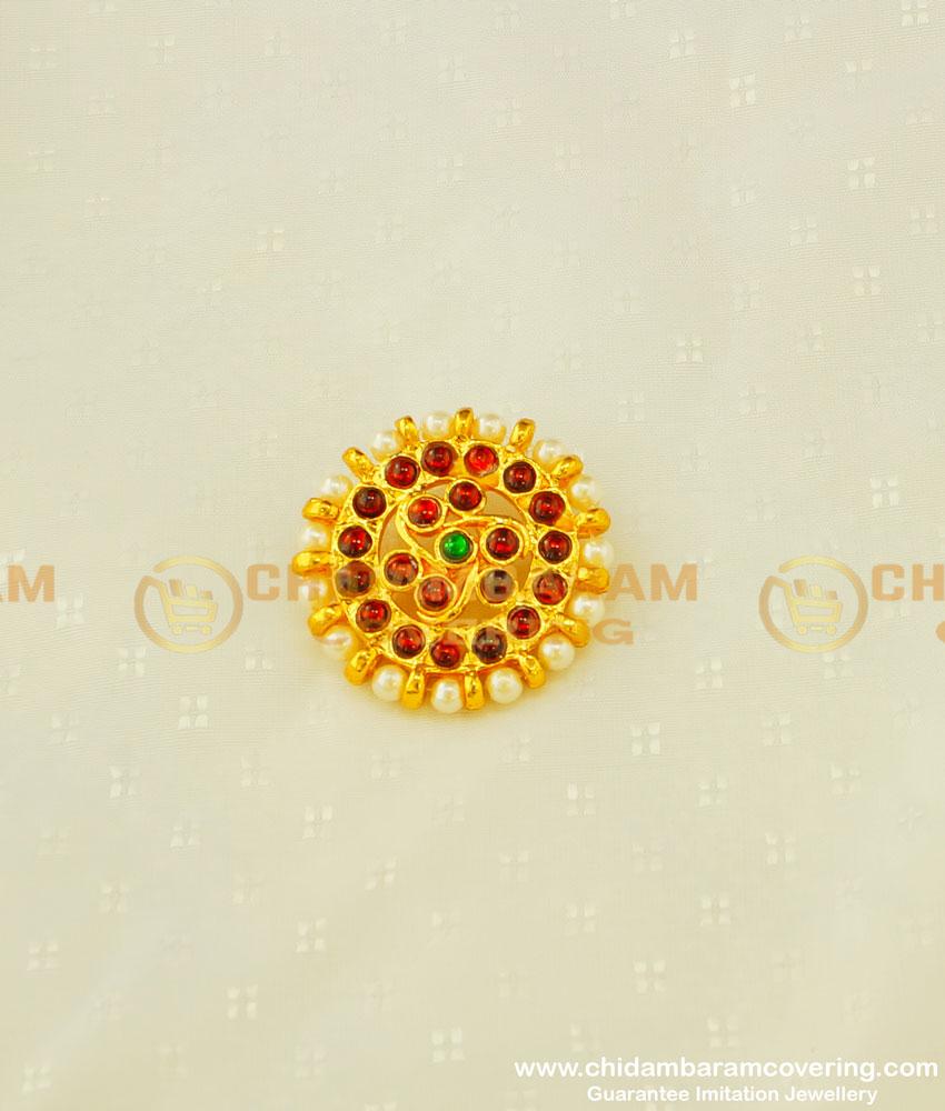 BNS09 - Bharatanatyam Jewellery Brass Gold Finish Pearl Jadai Villai Hair Jewellery Buy Online