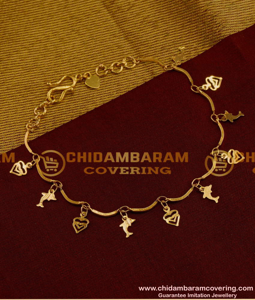 BCT10 - Latest Collection Hanging Dolphin and Heart Designs Bracelet Imitation Jewelry Online