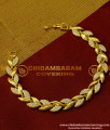 BCT22 - Latest Collection Leaf design Stone Bracelet Hand Chain Designs for Girls